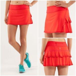 Lululemon 2 Love Red Pace Setter Skirt